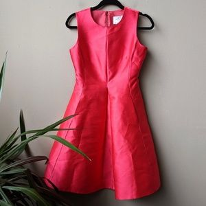 Kate Spade Heritage Fit And Flare Pink Mini Dress